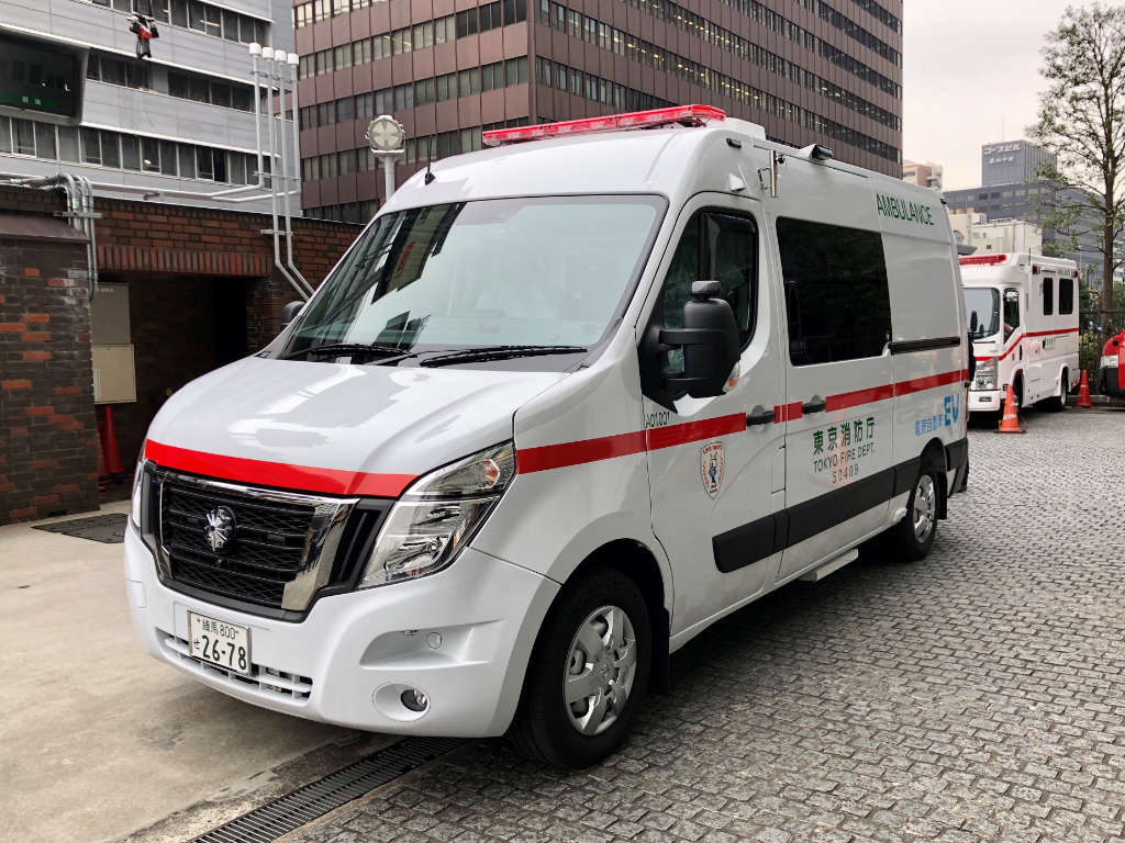 Japan's first Zero Emission (EV) ambulance delivered to the Tokyo Fire Department Ikebukuro Fire Station started operations in 2020.