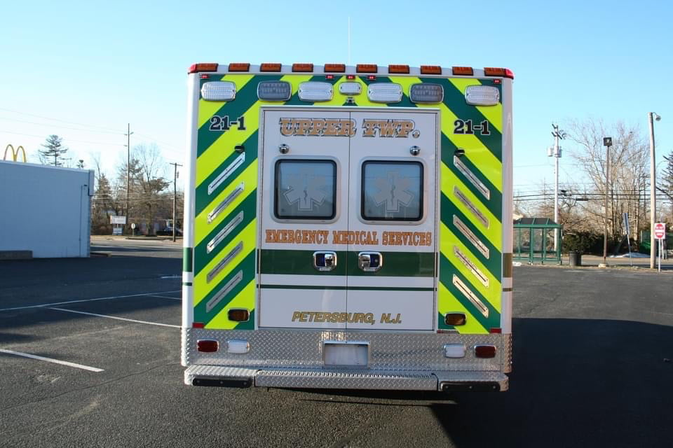 The Horton ambulance built for Upper Township Division of EMS has a Liquid Spring hydraulic rear suspension and uses Horton's Vi-Tech mounting system for the patient module.