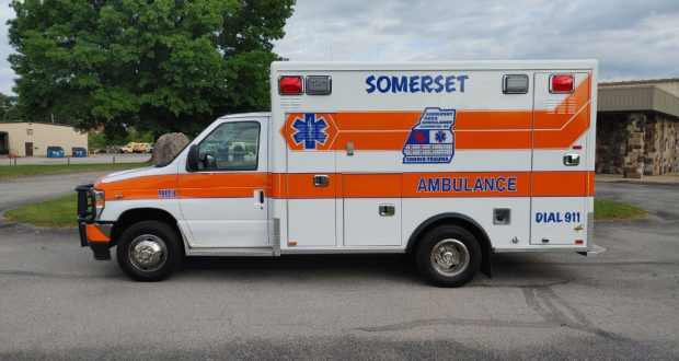 American Emergency Vehicles (AEV) built this Type 3 ambulance built on a 2021 Ford E-350 two-wheel drive chassis to Somerset (PA) Area Ambulance Association.