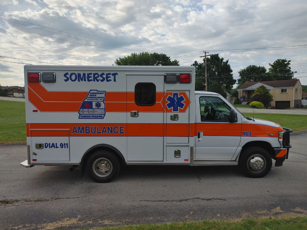 The Somerset Type 3 is powered by a 7.3-liter V-8 gasoline engine and has a patient module that's 146 inches long, 90 inches wide, and with 70 inches of headroom.