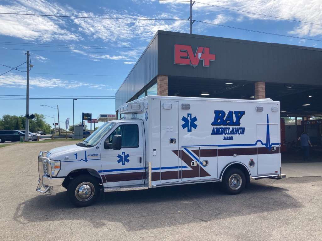 Road Rescue built this Type 3 ambulance on a Ford E-450 chassis with an UltraMedic walk-through body that has a 168-inch long wheelbase.